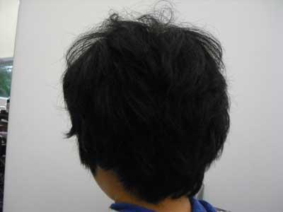 ショートのくせ毛