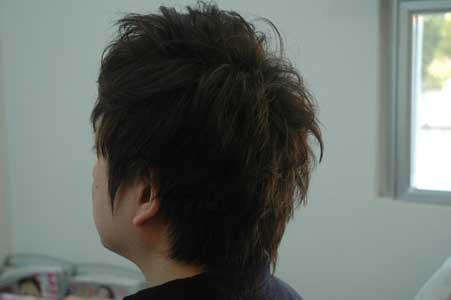 髪質を生かしたショート2