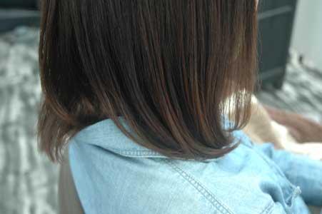 沖縄県宜野湾市美容室stylista|トリートメントでさらに内巻き。2
