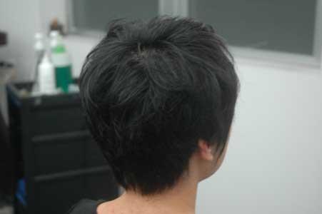 沖縄県宜野湾市美容室stylista|お約束のショートボブ。1