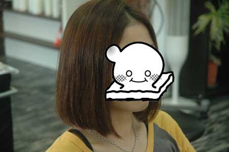 沖縄県宜野湾市美容室stylista|ボブのアプローチ。2
