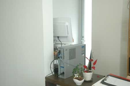 沖縄県宜野湾市美容室stylista|今度はパーテーション。1