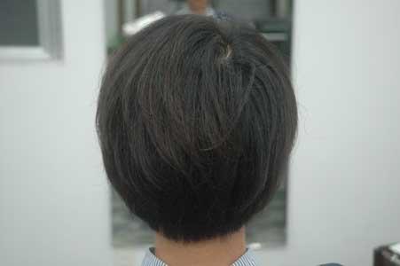 沖縄県宜野湾市美容室stylista|丸みのある前下がりショートボブ・1