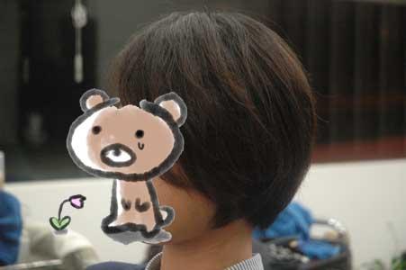 沖縄県宜野湾市美容室stylista|丸みのある前下がりショートボブ。3
