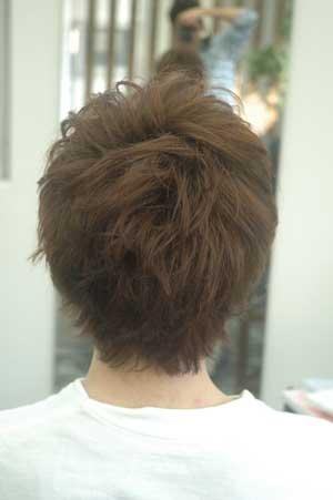 沖縄県宜野湾市美容室stylista|ショートをパーマっぽく1