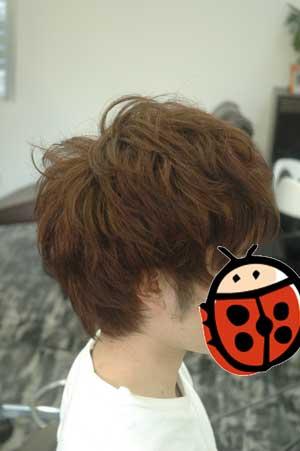沖縄県宜野湾市美容室stylista|ショートをパーマっぽく2