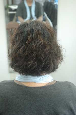 沖縄県宜野湾市美容室stylista|ショートのパーマからボブへ1