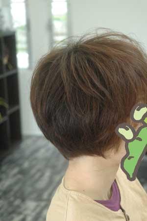 沖縄県宜野湾市美容室stylista|いつもより丸い前下がりボブ。1