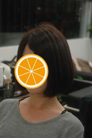 沖縄県宜野湾市美容室stylista|縮毛強制からの丸みボブ。3