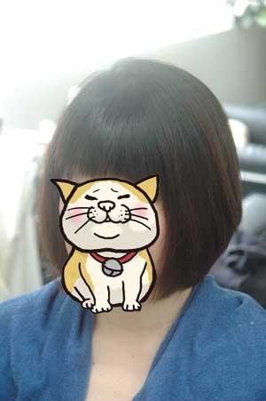 沖縄県宜野湾市美容室stylista|ショートボブの縮毛強制。1