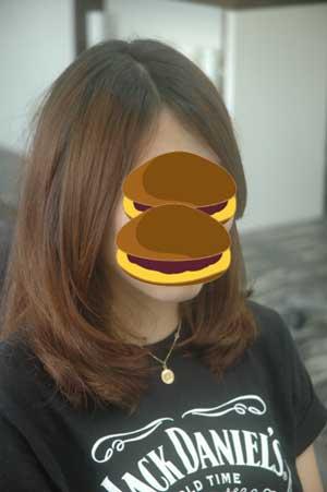 沖縄県宜野湾市美容室stylista|長めのボブ系。2