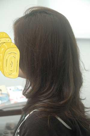 沖縄県宜野湾市美容室stylista|ミディアムレングス。1