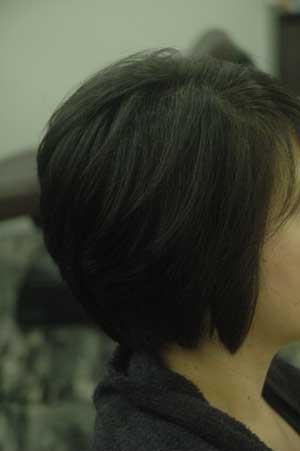沖縄県宜野湾市美容室stylista|前下がりがっぱいボブ。1