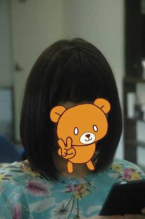沖縄県宜野湾市美容室stylista|伸ばしかけのボブ。3