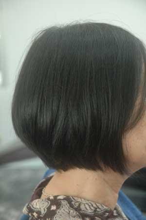 沖縄県宜野湾市美容室stylista|骨格を無視して前下がりボブ。1