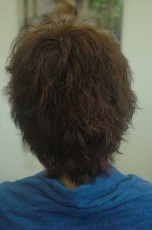 沖縄県宜野湾市美容室stylista|金髪にパーマ。1