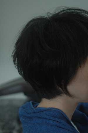 沖縄県宜野湾市美容室stylista|前髪は眉上で(笑)。1
