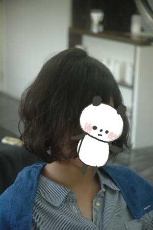 沖縄県宜野湾市美容室stylista|パーマを生かしてボブ。1