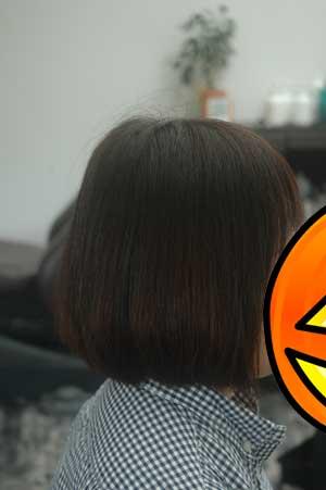 沖縄県宜野湾市美容室stylista|シンプルボブ。1