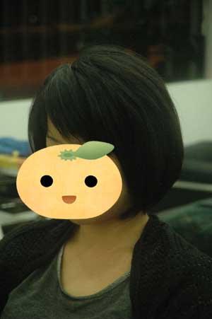 沖縄県宜野湾市美容室stylista|しゅっとした前下がりボブ。1