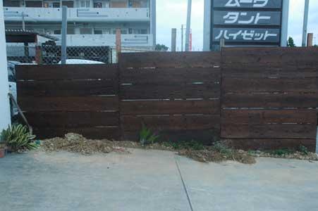 沖縄県宜野湾市美容室stylista|柵が完成~♪。1