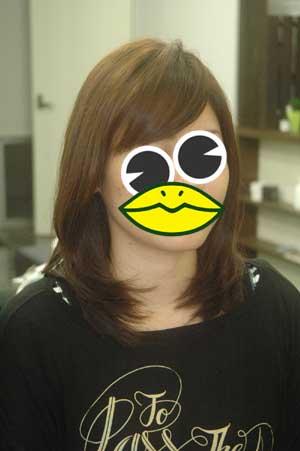 沖縄県宜野湾市美容室stylista|流す前髪のキープ方。1